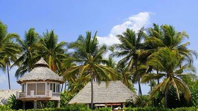 View of Property from the Beach.  Beautiful Separate Bungalow.
