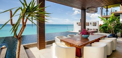 Photo for Modern beachfront 4 bedroom villa at Ffryes beach