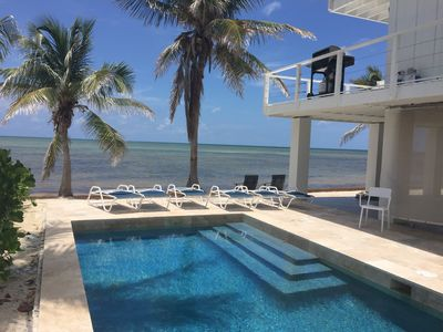 Photo for STUNNING Ocean Front home w/pool & Private Beach, Downtown Islamorada