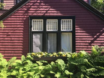 Photo for Downtown Bar Harbor but super private on 1 acre of gardens and woods