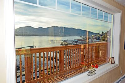 Your living room view/private deck is spectacular