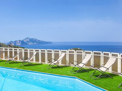 Photo for Villa Giulia with Private Pool, Sea View, Terraces and Parking