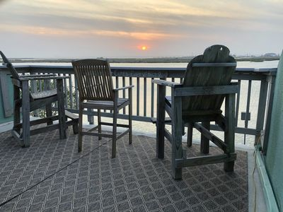 Photo for Bayfront Condo on Padre Island. DOCK on the BAY! Incredible Sunset View. Pool.