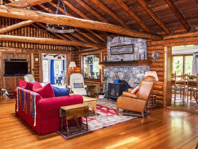Photo for Stunning Lodge & Guest Cabins with Private Beach Access