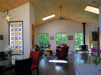 Photo for A True Gem in the heart of Woodstock, w/ fireplace & hot tub, wheelchair access