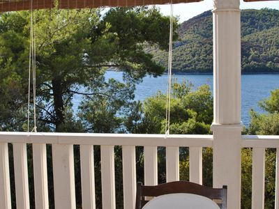 Photo for Two bedroom apartment with terrace and sea view Brna, Korčula (A-15730-a)
