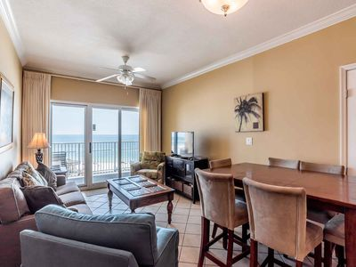 Photo for Beachfront Condo with Amazing Views and Extra Large Balcony | Community Pool, Steps to the Beach!