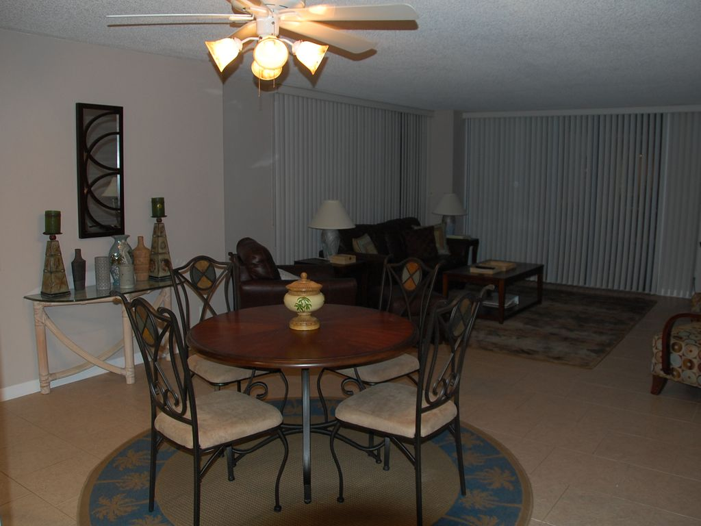 Daytona Beach Upscale Oceanfront Condo New Dining Furniture