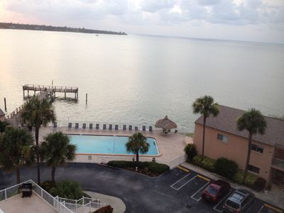Photo for Relax in Waterfront condo and enjoy sunrise and sunset from balcony