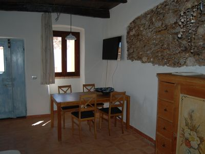 Photo for Restored stone house in the centro storico of Posada