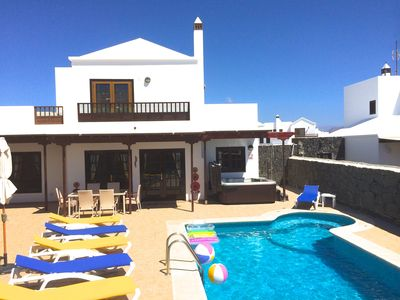 Photo for Fully Licensed 3 bed villa with private pool & hot tub, mountain & sea views