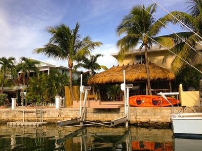 Relax in your own private Tiki Hut at Turtle Cove