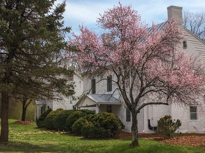 Photo for Historic farmhouse near Charlottesville with relaxing gardens