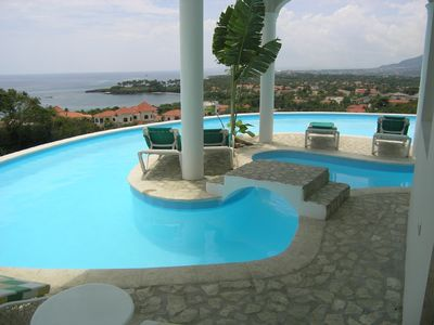 Infiniti pool with one of the islands