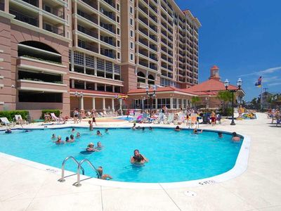 Photo for Condo W/ Tons of Amenities! Pool, Lazy River, and More!  *150 yards from beach*