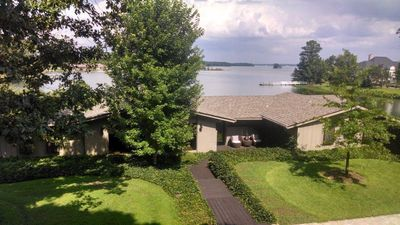 Photo for Executive lakefront Pool home features 2 master suites, Optional luxury pontoon