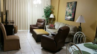 Relax in Our Cozy Living Area After a Full Day at The Beach
