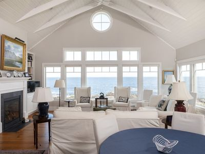 Photo for 6 Point Road is directly on the rocky coast of Cape Elizabeth. This luxury Maine rental in completel