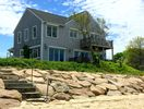 Located directly on the sandy, pet friendly beach. Waterfront AND very private!