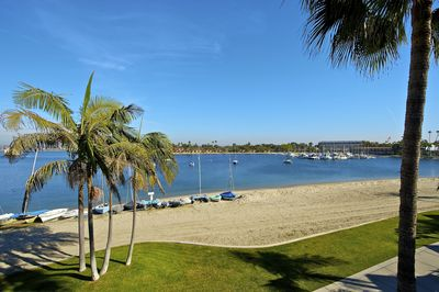 Sail Bay.  Beautiful walkway all around Mission Bay. Or rent a sailboat!