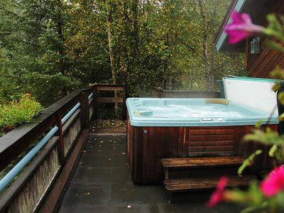 Photo for Studio with tranquil glacier views features private hot tub and more