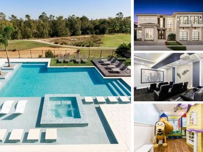 Photo for W318- 9 Br Luxury Reunion Mansion With Golf View