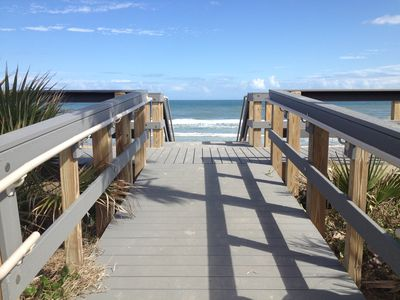 The walkway to the beach, only one half a block away from Sea Oats.