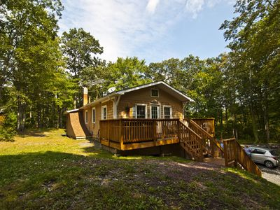 Photo for Private 3 Bedroom Retreat on 10 Acres--Borders State Forest--Hot Tub!