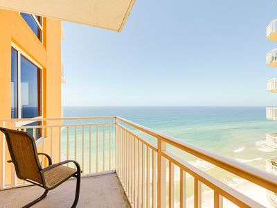 Photo for Superb beach living at this waterfront condo w/ shared pools, a gym, & hot tub