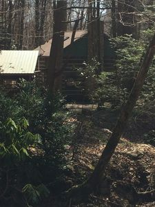 Another exterior view of Wolf Branch Cabin