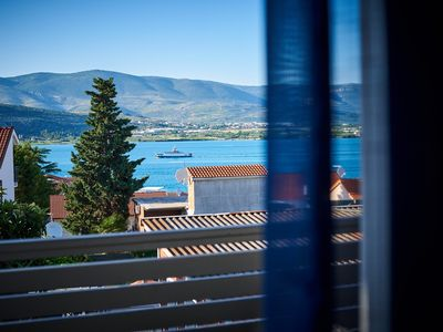 Photo for Lovely ❤ sea view studio for 2, beach at 250 m