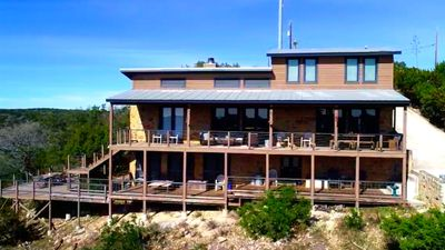 Photo for Luxury Lodge, Spectacular Views Frio River & Mountains, Huge Decks, Gated!