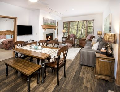 Photo for Exclusive Arrowhead Village Condo, Steps from the Lift, Heated Pool & Hot Tub