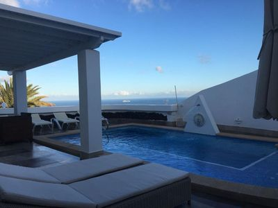 Photo for Luxury detached villa: private  heated pool, WIFI , A.C. & ocean view