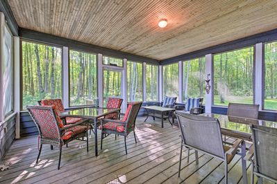 Serve homemade meals on the screened porch, with ample outdoor seating!