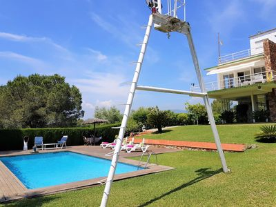 Photo for Villa with private pool, sea views, 5 bedrooms, wifi throughout the house