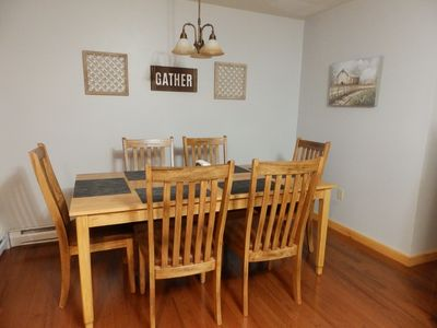 Dining area will sit up to 8 comfortably(2 folding chairs provided)