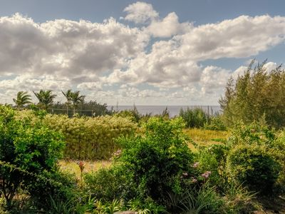 Photo for Ocean view home in beautiful garden setting w/ private pool - steps to beach!