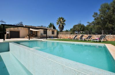 """Photo for Modern """"Villa Calderitx"""" with Wi-Fi, Air Conditioning, Terrace, Garden & Pool; Parking Available"""