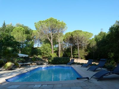 Photo for Romantic villa with pool & pool house between the Mediterranean Sea and the Gorges du Verdon
