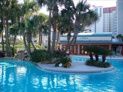 """Lagoon pool and """"The Hang Out"""" Grill and Bar"""