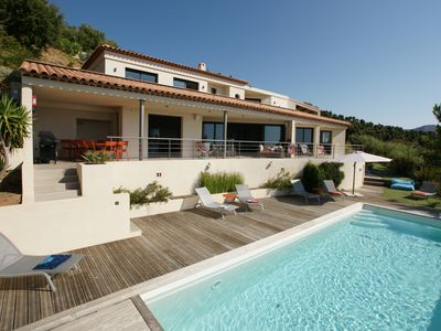 Photo for Londe les Maures, New Luxury Villa, 280m2, Pool, Sea Golf view, Hammam, Jacuzzi