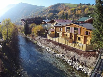 Photo for Beautiful chalet constructed of solid logs right in the centre of Kaprun