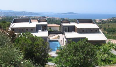 Photo for Villa with pool and beautiful sea view close to beaches and shops