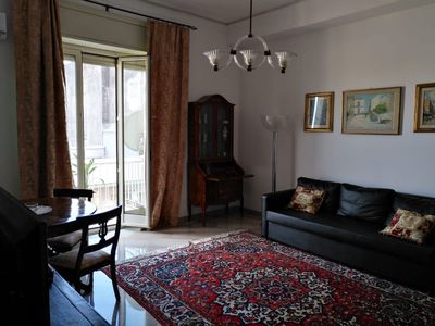 Photo for Just renewed, near Corso Italia, the living room of Catania