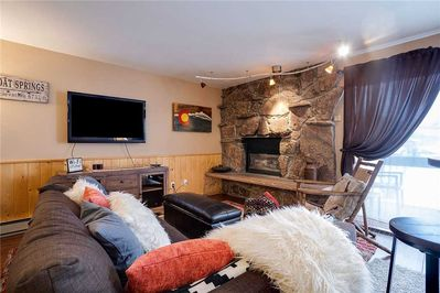 Gas Fire and Flat Screen