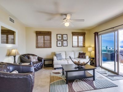 Photo for Great Family Oceanfront Condo! 2 Floors with Groundfloor Patio, Tandem Garage