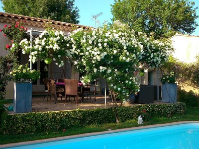Photo for studio in villa with swimming pool on the cote d azur