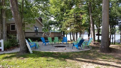Photo for Private! 2 properties - 18+ people 7 acres;  Booking 2019, RV sites, pontoon