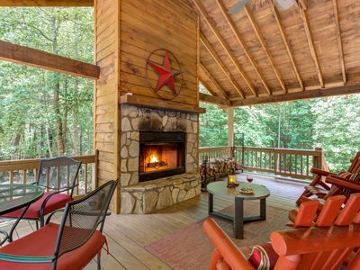 Photo for Dog-friendly cabin with a private hot tub, fenced yard, and a peaceful location!